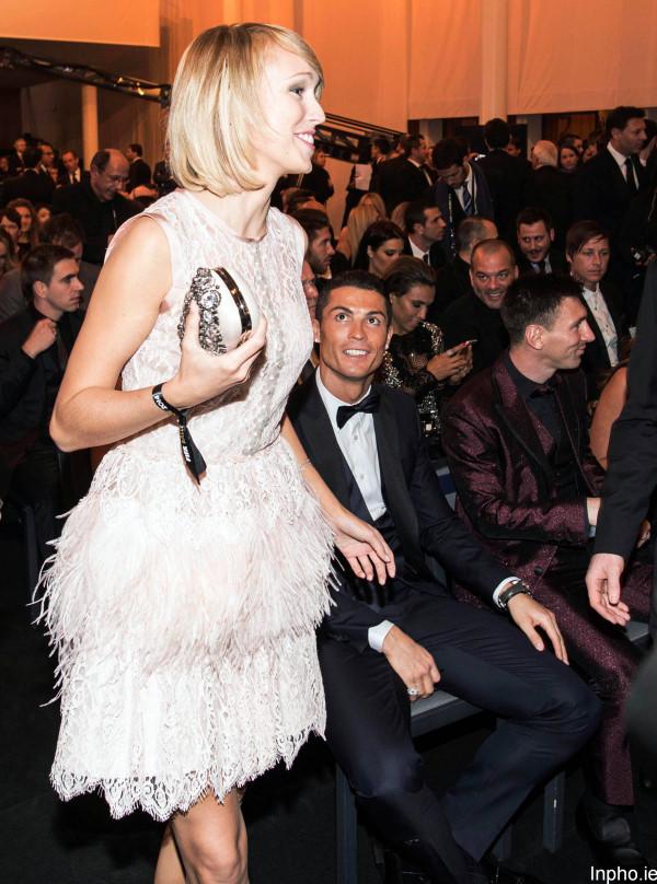 Stephanie Roche with Cristiano Ronaldo 12/1/2015
